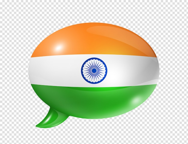 Nuvoletta bandiera indiana Psd Premium