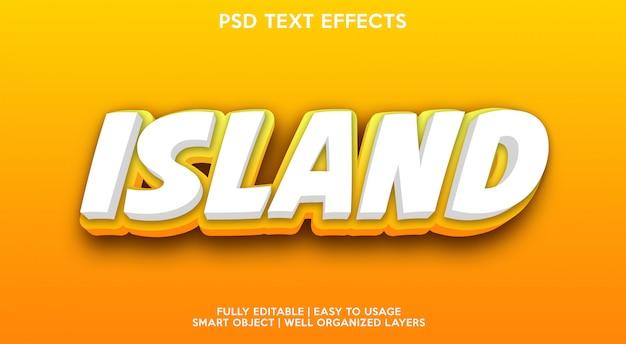 Modello di effetti di testo dell'isola Psd Premium
