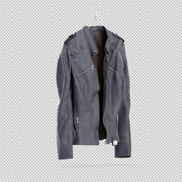 L'abbigliamento isometrico come 3d isolato rende Psd Premium