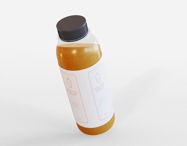 Bottiglia di succo di frutta mockup Psd Premium