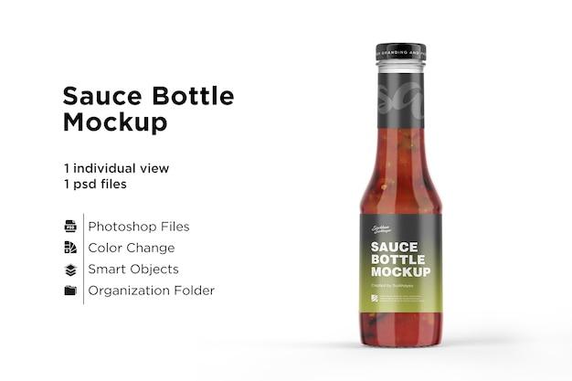 Bottiglia di salsa ketchup mockup isolato Psd Premium