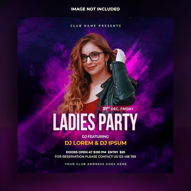 Modello di banner sociale festa delle signore Psd Premium