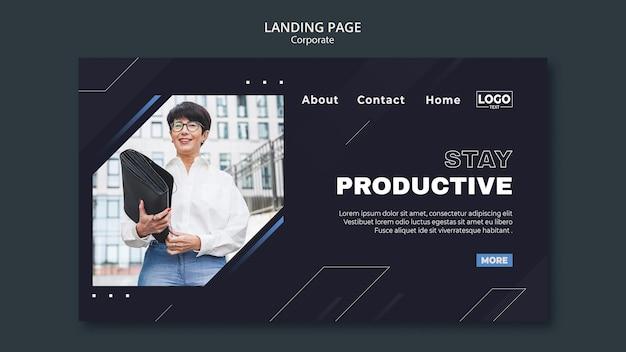Pagina di destinazione per società di affari professionali Psd Premium