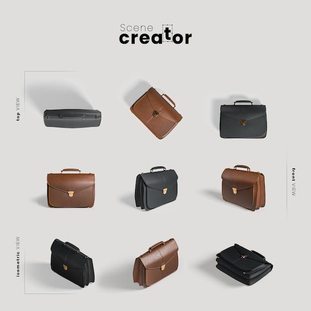 Creatore di scene di borse in pelle Psd Premium