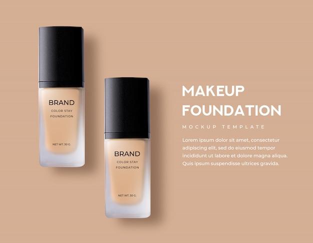 Cosmetici di bellezza per fondotinta liquido per trucco di colore opaco opaco in lussuose confezioni di vetro Psd Premium