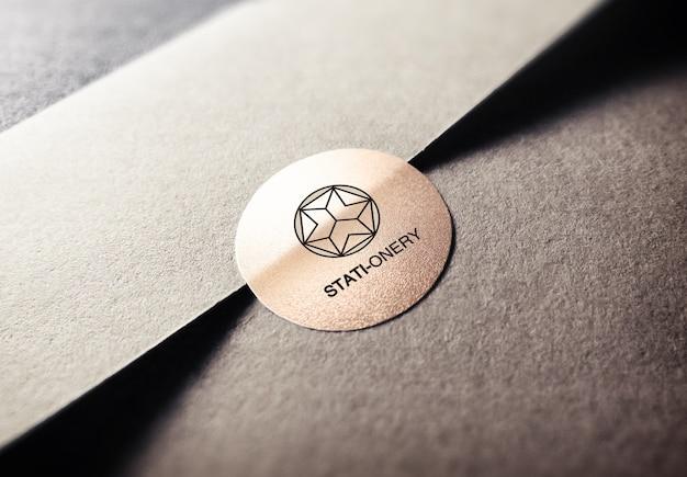 Mockup di progettazione del logo Psd Premium