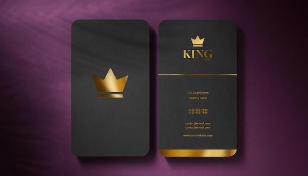 Biglietto da visita nero di lusso logo mockup Psd Premium