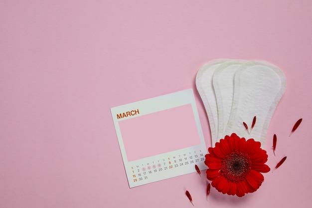 Assorbenti mestruali, calendario femminile Psd Premium