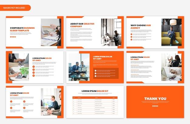 Modello di cursore di presentazione aziendale minimo Psd Premium