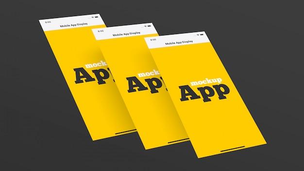 Mockup visualizzazione app mobile Psd Premium