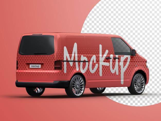Mockup di furgone di consegna del veicolo commerciale isolato Psd Premium