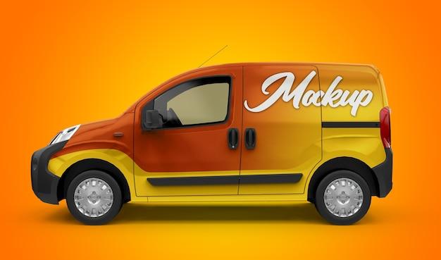 Mockup di un generico furgone cittadino Psd Premium
