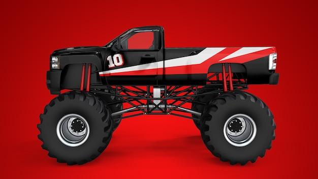 Mockup di un monster truck Psd Premium