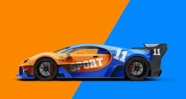 Mockup di una potente auto sportiva di lusso Psd Premium