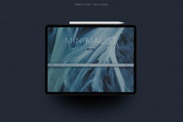 Tablet mockup con sovrapposizione di ombre Psd Premium