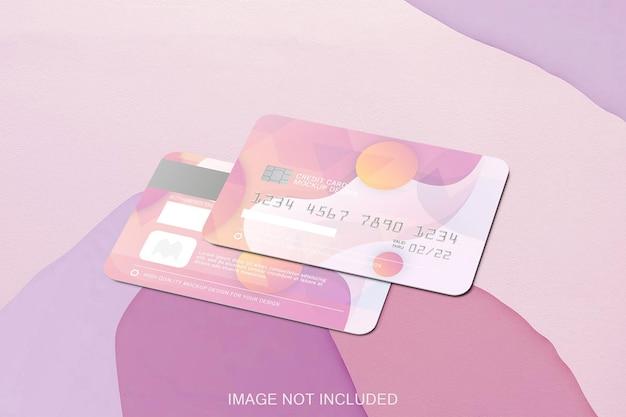 Mockup di due carte di credito isolate Psd Premium