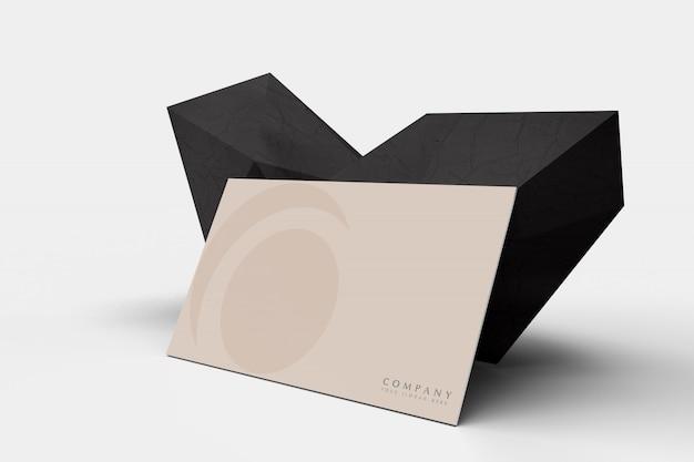 Modello moderno del biglietto da visita con le rocce nere astratte Psd Premium