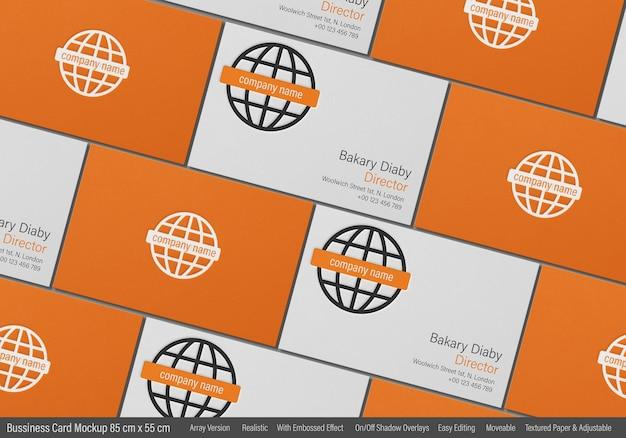 Mockup di biglietto da visita moderno con stampa in rilievo Psd Premium