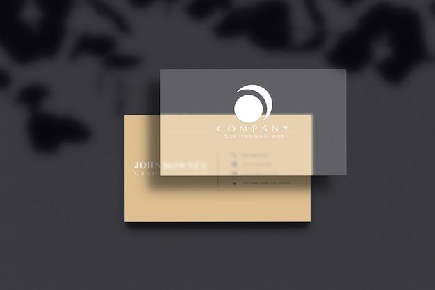 Mockup moderno biglietto da visita Psd Premium
