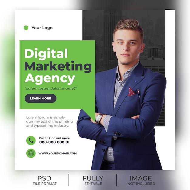 Insegna moderna del modello della posta del instagram Psd Premium