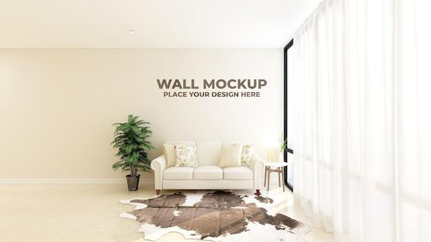 Mockup di logo della parete della sala d'attesa della hall dell'ufficio moderno Psd Premium