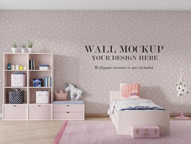 Design moderno mockup a parete nella stanza di rendering 3d Psd Premium