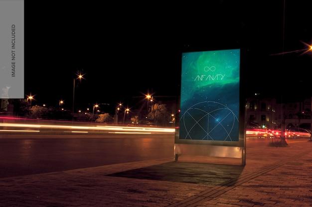 Mupi billboard mockup Psd Premium