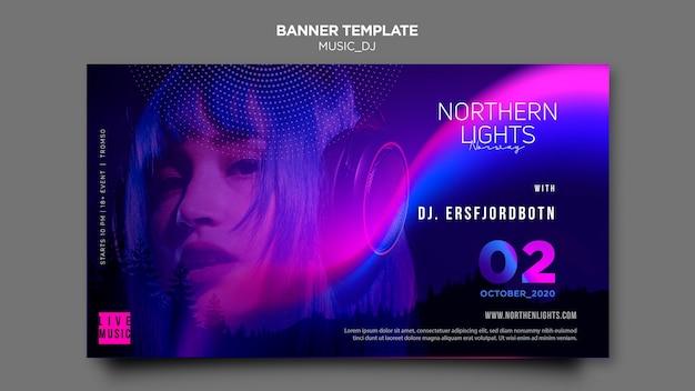 Tema di musica dj banner Psd Premium