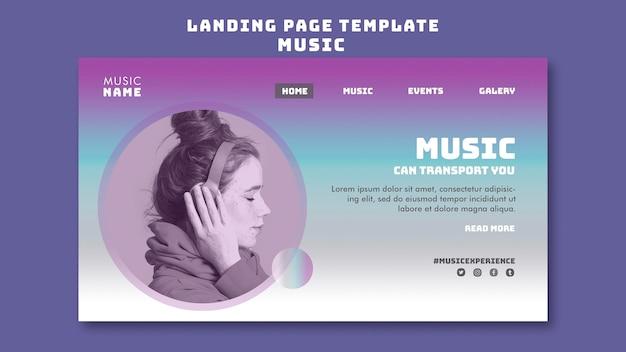 Modello di pagina di destinazione dell'esperienza musicale Psd Premium