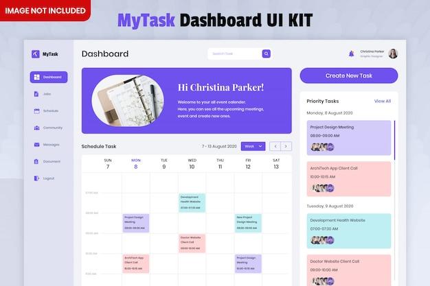 Kit ui dashboard elenco mytask Psd Premium