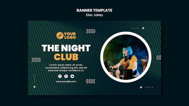Il modello di banner del night club Psd Premium