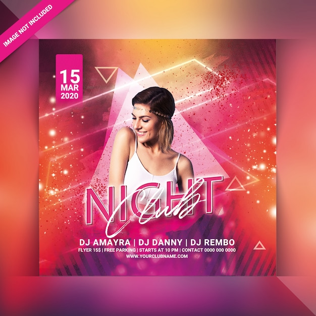 Volantino per festa in night club Psd Premium