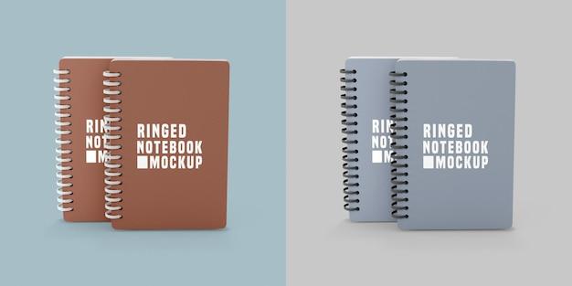 Notebook set mockup Psd Premium
