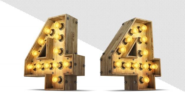 Numero lampadina segno Psd Premium