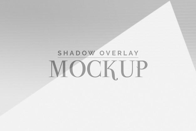 Mockup di sovrapposizione shadow organico Psd Premium