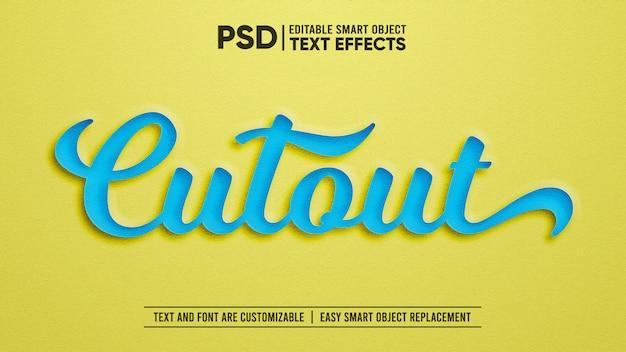 Ritaglio di carta effetto di testo modificabile Psd Premium