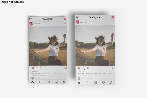 Paper mockup per instagram post Psd Premium