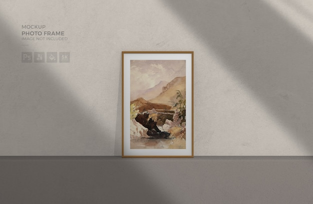 Photo frame mockup Psd Premium