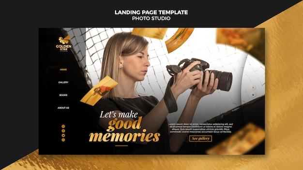 Pagina di destinazione del modello di studio fotografico Psd Premium