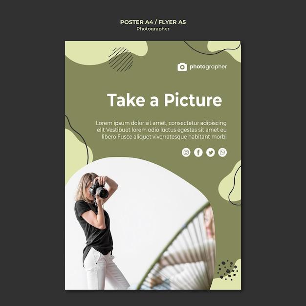 Modello di volantino dello studio del fotografo Psd Premium