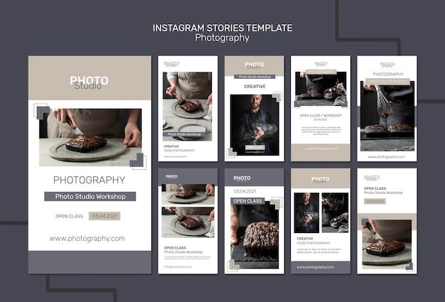 Storie di instagram di fotografia Psd Premium