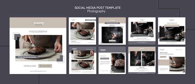 Post sui social media di fotografia Psd Premium