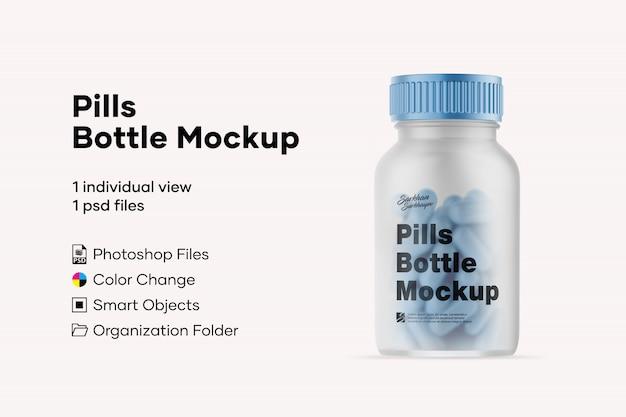 Pillole mockup di bottiglie Psd Premium