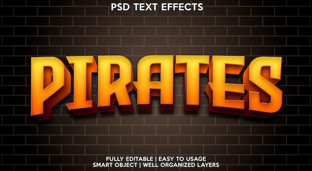 Pirati modello di effetti di testo Psd Premium