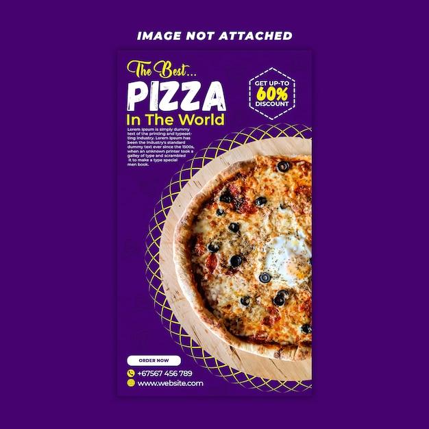 Pizza story story design Psd Premium