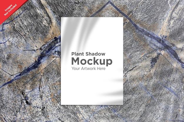 Pianta shadow over sheet mockup design Psd Premium