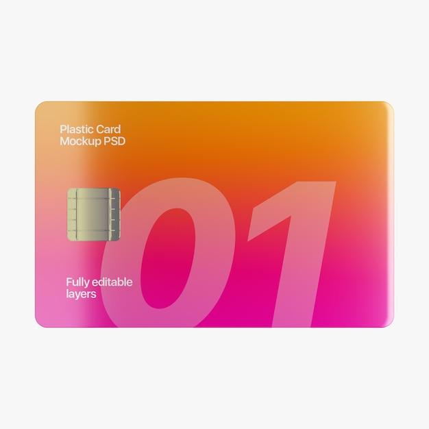 Mockup di carta di plastica Psd Premium