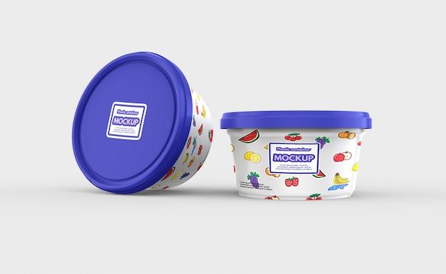 Mockup contenitore di plastica per alimenti Psd Premium