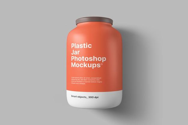Mockup di barattolo di plastica Psd Premium