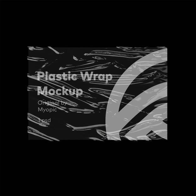 Mockup di poster con involucro di plastica Psd Premium
